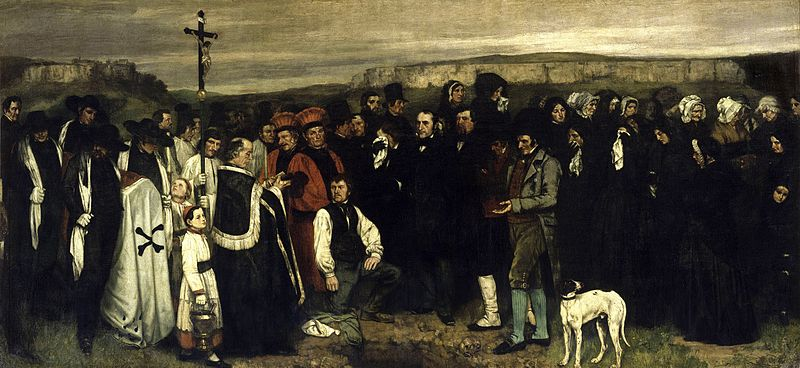 Courbet : Un enterrement à Ornans