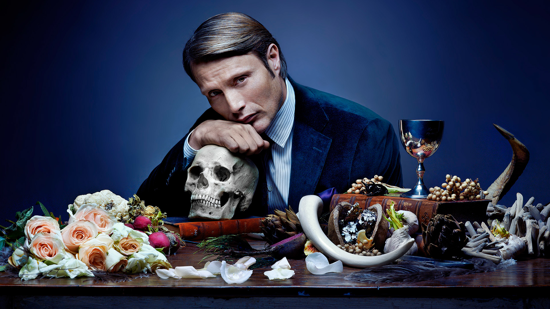 HANNIBAL -- Season: 1 -- Pictured: Mads Mikkelsen as Dr. Hannibal Lecter -- Photo Credit: © Robert Trachtenberg/NBC.
