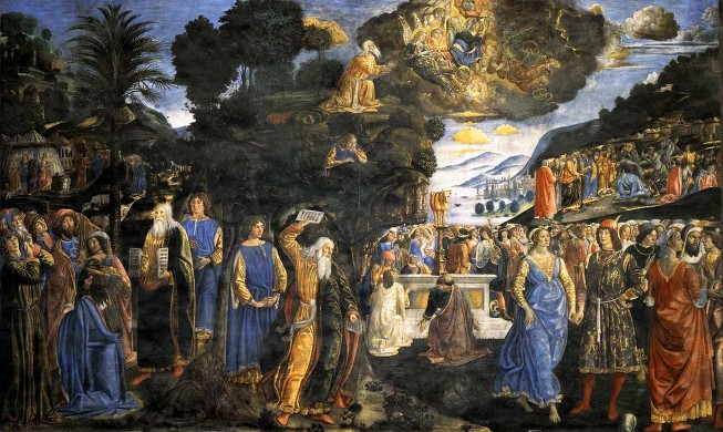 'Moses and the Tables of the Law' Cosimo Rosselli 1481/82